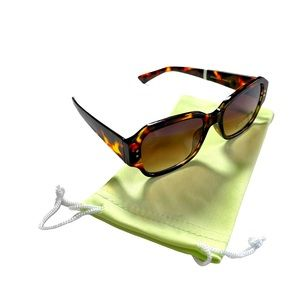 Vince Camuto Brown Tortoise Square Sunglasses